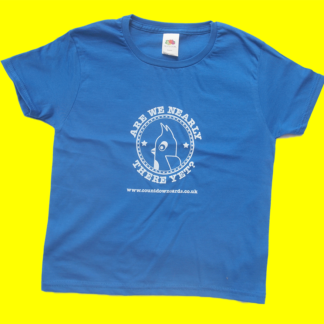 Blue Are we nearly there yet t-shirt